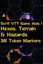 Sci-fi VTT Game Aids 1 – Hex, Terrain and Hazard Markers