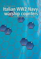 Italian Navy WW2 warship hex counters