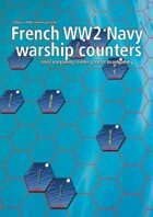 French Navy WW2 warship hex counters