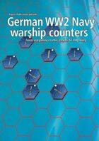 German Navy WW2 warship hex counters