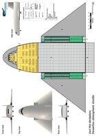 Feraerfon atmospheric shuttle ship plans sheet