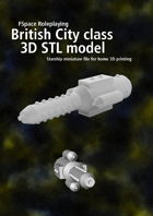 City class battlecruiser 3D STL model