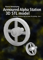 1st Generation Armoured Alpha series spacestation 3D STL model
