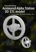 1st Generation Armoured Alpha series spacestation 3D STL model