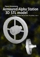 2nd Generation Armoured Alpha series spacestation 3D STL model