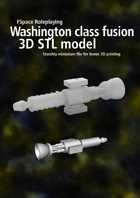 Washington class battleship fusion pulse engine 3D STL model