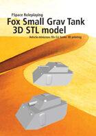 Fox Small Grav Tank 3D STL model