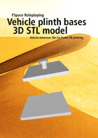 Vehicle plinth bases 3D STL model