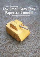 Fox Small Grav Tank Papercraft model