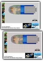 BHF35TFBG-A2b Modular Heavy Fighter plans one inch sheet