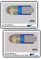 BHF35TFBG-A2b Modular Heavy Fighter plans 3/4 inch sheet
