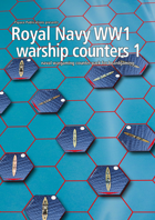 Royal Navy WW1 warship hex counters