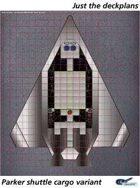Parker Shuttle cargo variant deckplan sheet
