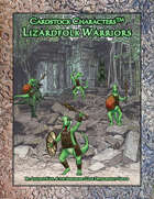 Lizardfolk Warriors (Cardstock Characters™)