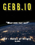 Gebb 87 – Rules of Origin