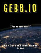 Gebb 92 – Occam's Dull Razor