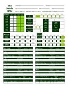 The Noble Wild Character Sheets