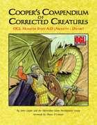 Cooper's Compendium of Corrected Creatures: OGL Monster Stats A – D (Aboleth – Dwarf)