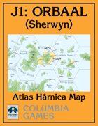 Atlas Map J1: Orbaal - Sherwyn