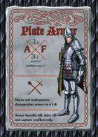 Torchbearer Player\'s Deck: Armor Set