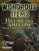 Wondrous Items 2: Helmets & Shields from Monster Hides