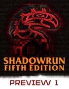 Shadowrun: Fifth Edition Preview #1