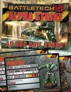 BattleTech: Alpha Strike Ad Hoc Unit Cards