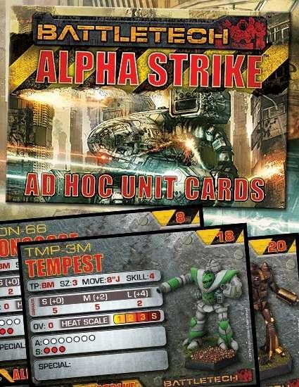 BattleTech: Alpha Strike Ad Hoc Unit Cards