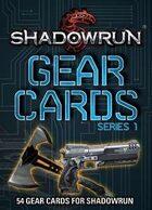 Shadowrun: Gear Cards, SR5 Series 1