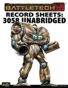 BattleTech: Total Warfare Style Record Sheets: 3058 Upgrade Unabridged Inner Sphere