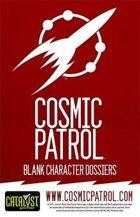 Cosmic Patrol: Blank Dossiers