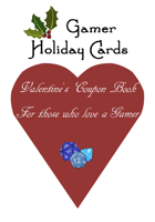 Gamer Holiday Cards: Valentine's Coupon Book For those who love a Gamer