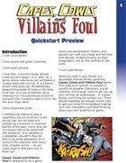 Capes, Cowls and Villains Foul -- Quickstart Preview (German version)