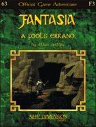 Fantasia: A Fool's Errand--Adventure F3
