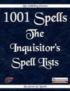1001 Spells: Inquistior's Spell Lists (PFRPG) Free Preview