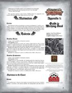 Leagues of Gothic Horror Appendix 3: Guide to Walking Dead