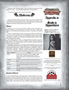Leagues of Gothic Horror Appendix 4: Guide to Apparitions