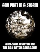 One Sheet - Any Port In A Storm (Savage Worlds)