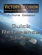 Victory Decision: Future Combat - Quick Reference Sheet