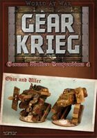 Gear Krieg: German Walker Compendium IV: Odin and Uller