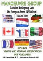 Battalion Battle Group Lists - The European Front - NATO Part 1  1986 to 1990