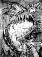 Dragon clip art image
