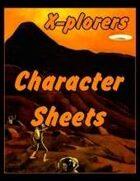 X-plorers Digest Character Sheets