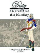 Duty & Honour 1809 Almanac