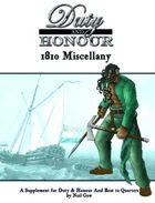 Duty & Honour 1810 Miscellany
