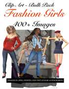 400 Fashion Girls Clip Art