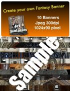 Fantasy Banners or Page Separators Volume 1 Castle/Keep