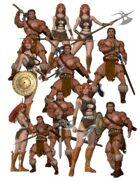 Character Clipart - Barbarian set *Bargain Bin 5