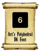 Art's Polyhedral Dice D6 Font
