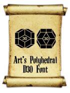 Art's Polyhedral Dice D30 Font